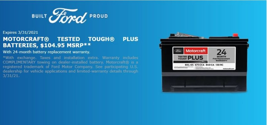 Erwin TN ford battery coupon